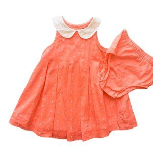 """Baby Gap Coral """"Gatsby Collection"""" Pleated Dress"""